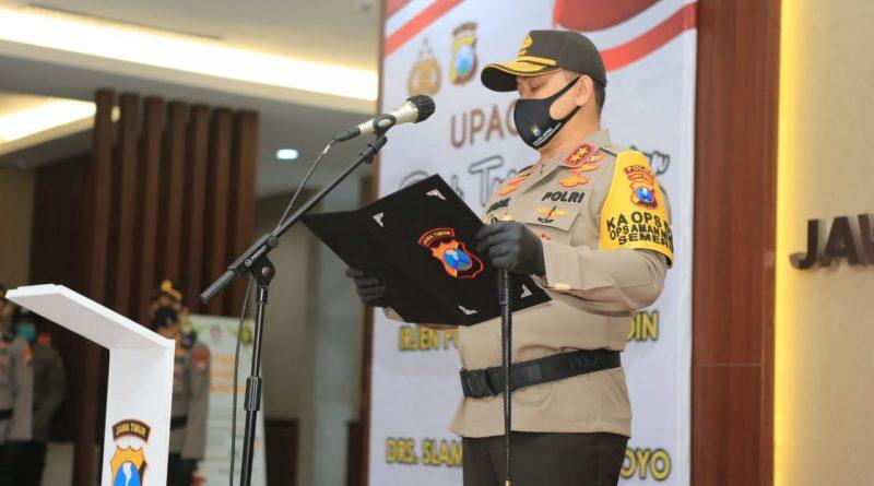 Kapolda Jatim Pimpin Sertijab Wakapolda Jatim, Irwasda Polda Jatim Dan Kapolrestabes Surabaya