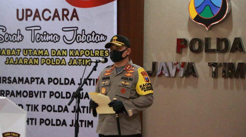 Kapolda Jatim Pimpin Sertijab Sejumlah Pejabat Utama dan Kapolres