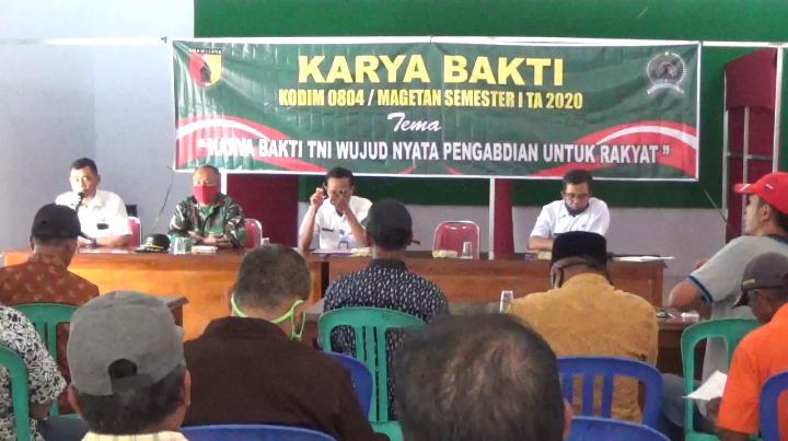 Sosialisasi Pelaksanaan Karya Bakti TNI Kodim 0804 Magetan Bersama DPUPR Magetan