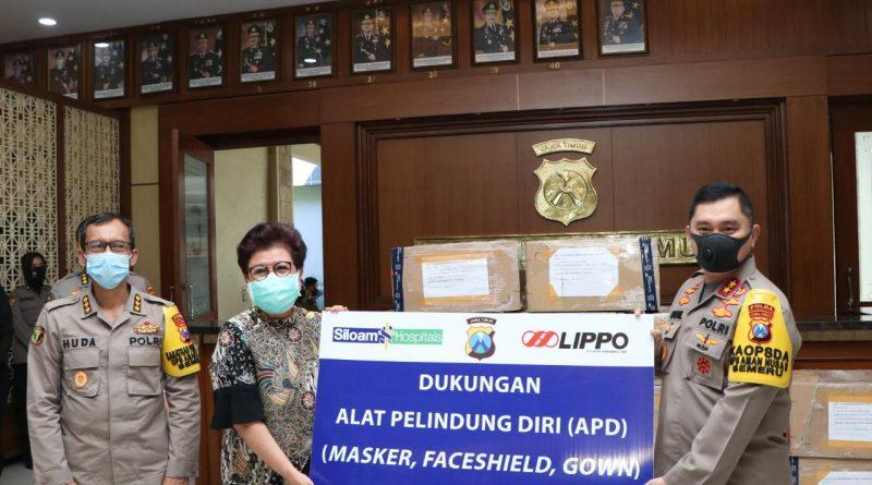 Kapolda Jatim Terima Bantuan APD dari LIPPO Karawaci