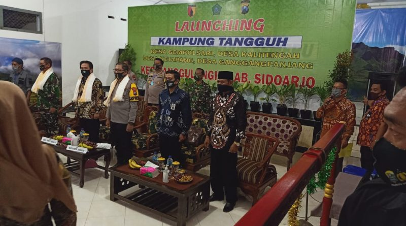 Kapolresta Sidoarjo Mengapresiasi Pembangunan Posko Kampung Tangguh Tanggulangin