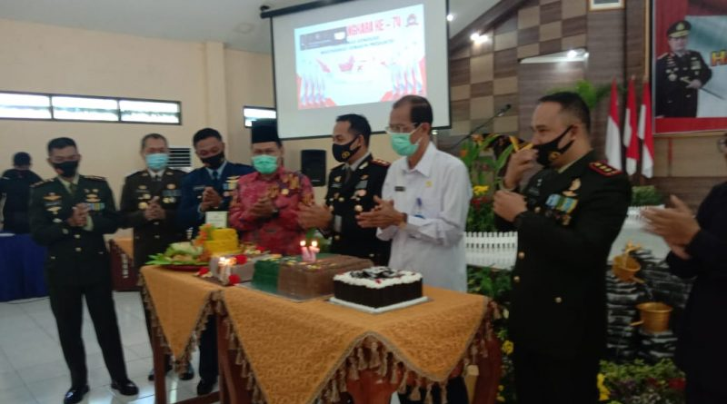Kapolres Magetan Pimpin Acara Syukuran Hari Bhayangkara ke 74