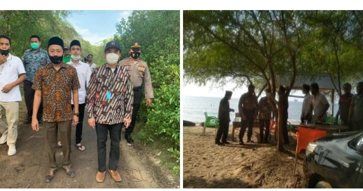 Ra Bir Aly dan Sekda Tinjau Pantai Tengket Bangkalan