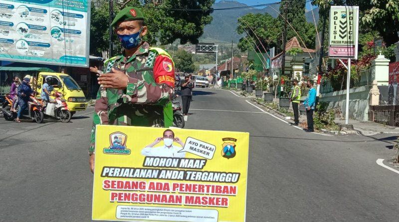 Polsek Plaosan Giat Operasi Yustisi Guna Sadar Menggunakan Masker