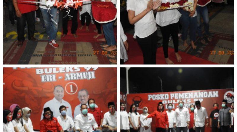 Calon Walikota Surabaya, Eri Cahyadi mendatangi tempat Tim Relawan di POSKO KEMENANGAN BULEK 99