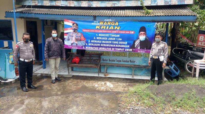Bersama Tiga Pilar, Sebar Himbauan Patuhi Prokes 5M
