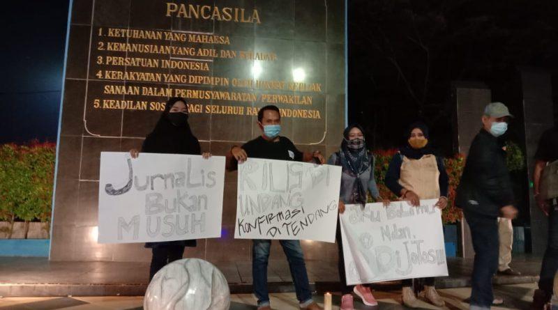 Kekerasan Terhadap Jurnalis, IJM Gelar Aksi solidaritas