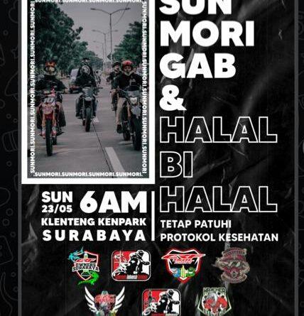SunMoriGab Gelar Acara Hala Bihalal bersama SUPERMOTO dan Trail Surabaya Raya