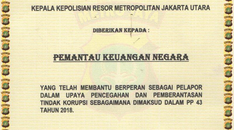 Sikat KORUPSI, Kapolres Jakarta Utara Berikan PENGHARGAAN Pada PKN