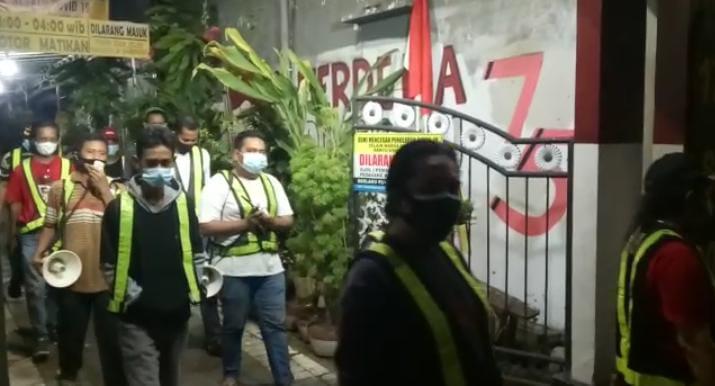 PPKM Mikro Tim Gugus Covid-19, RW 5 Kelurahan Banyu Urip Surabaya, Gencarkan Patroli Malam