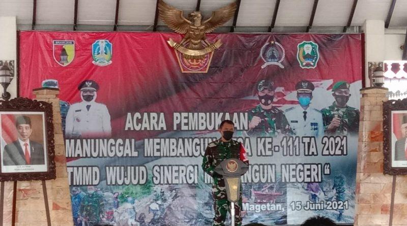 Pembukaan TMMD, Bentuk Sinergitas TNI Dengan Rakyat